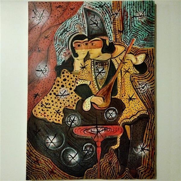 هنر نقاشی و گرافیک محفل نقاشی و گرافیک محمد محمدزاده تیتکانلو حامد و عذرا، رنگ و روغن روی بوم ۱۳۹۹ اثر #محمدمحمدزاده_تیتکانلو