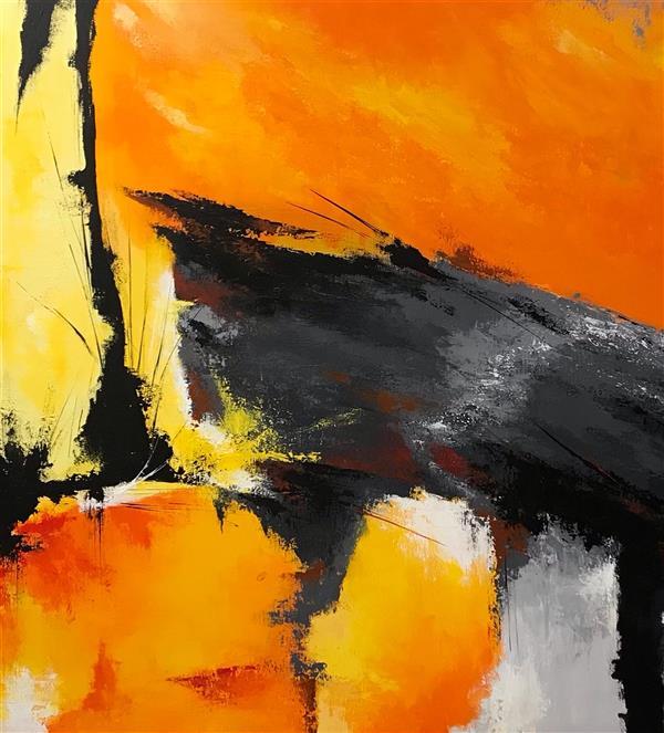 هنر نقاشی و گرافیک محفل نقاشی و گرافیک الهه رهنما نقاشی اکریلیک روی بوم.سایز ۱۰۰در۱۰۰.#آبستره
