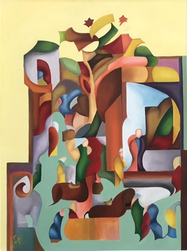 هنر نقاشی و گرافیک محفل نقاشی و گرافیک azitanazari رنگ و روغن روی بوم/ ۱۳۹۸/ آزیتا نظری