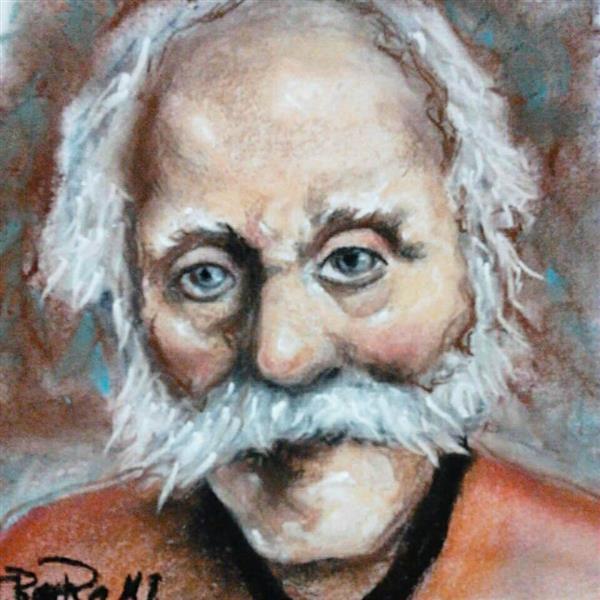 هنر نقاشی و گرافیک محفل نقاشی و گرافیک نقاشی گرافیک چهره تکنیک پاستل گچ در سایز A3
