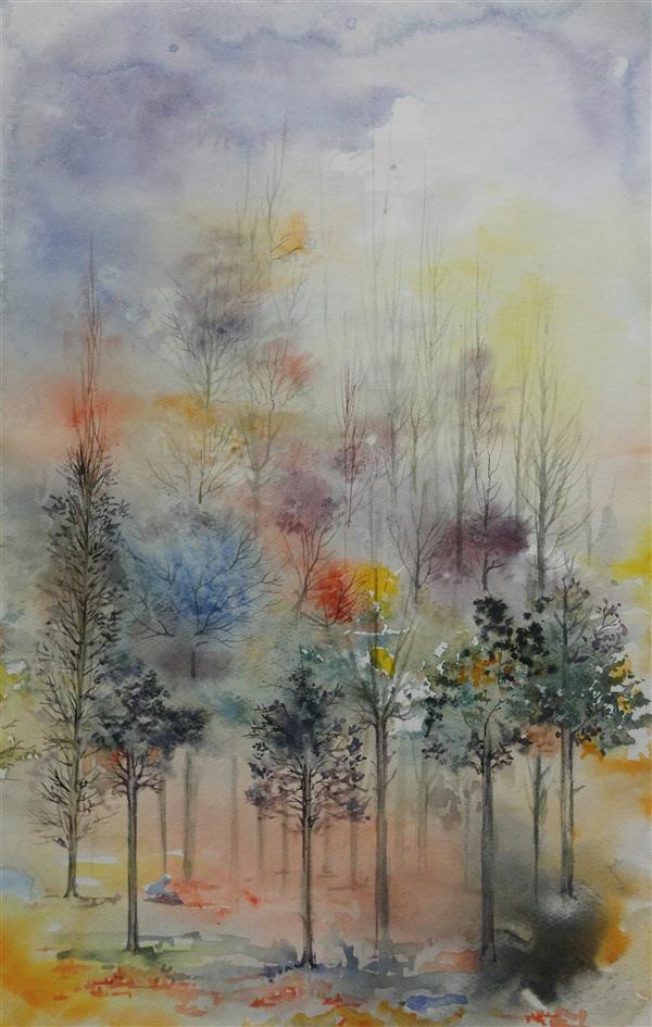 هنر نقاشی و گرافیک محفل نقاشی و گرافیک farzaneh kalantari آبرنگ 1398 #watercolor