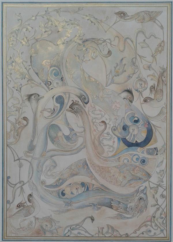 هنر نقاشی و گرافیک محفل نقاشی و گرافیک نسترن قنبری آبرنگ و گواش - مقوا ماکت  1399   نسترن قنبری #نقاشی_ایرانی  #نگارگری #نگارگری_ایرانی #miniature# Iran  #paintings #illustrator #persian_painting