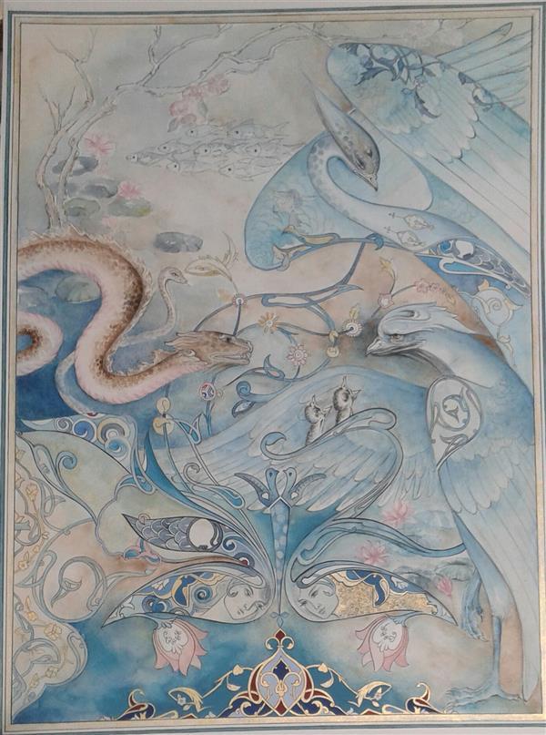 هنر نقاشی و گرافیک محفل نقاشی و گرافیک نسترن قنبری #آبرنگ  #نقاشی  #نقاشی_ایرانی  نگارگری  #miniature  #painting  #illustrator
