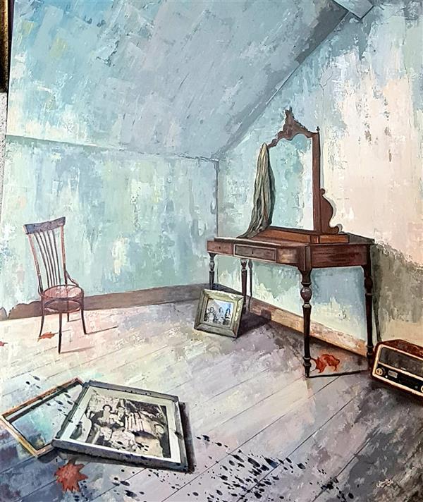 هنر نقاشی و گرافیک محفل نقاشی و گرافیک مریم حسینی  مریم حسینی  اکلریک و کولاژ سال تولید۹۸ خاطرات