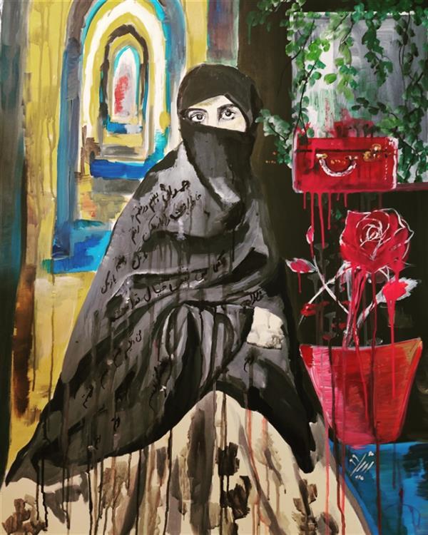 هنر نقاشی و گرافیک محفل نقاشی و گرافیک زهرا علیزاده نام هنرمند : زهرا علیزاده نام اثر: سالهاست چمدان بستم و رفتم من سال خلق اثر: ۱۳۹۹ متریال: اکرولیک روی بوم