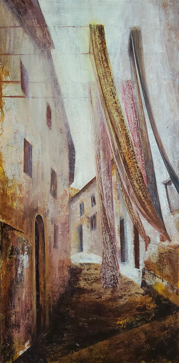 هنر نقاشی و گرافیک محفل نقاشی و گرافیک نسرین تقوایی #اکرلیک  #چوب #کاردک #نقاشی  #تابلو  #اکریلیک #منظره #انتزاعی سال خلق اثر ۱۴۰۰ #نسرین-تقوایی اکرلیک روی چوب با تکنیک کاردک