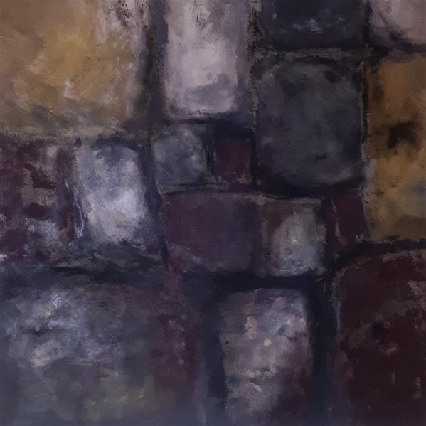 هنر نقاشی و گرافیک محفل نقاشی و گرافیک مهسا جعفری #متریال: رنگ اکریلیک  #نام اثر:  دیوار شماره ۰۳   The wall 03