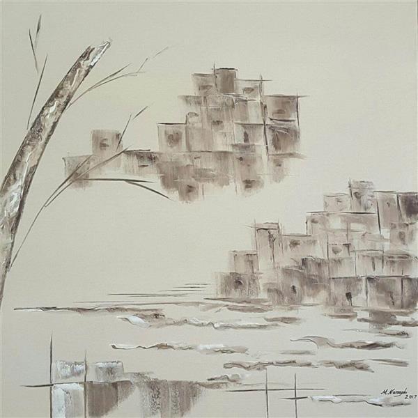 هنر نقاشی و گرافیک محفل نقاشی و گرافیک محسن نراقی رنگ و روغن روی بومAbstract،سایز 50x50