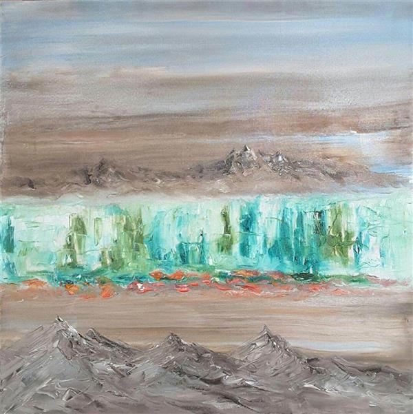 هنر نقاشی و گرافیک محفل نقاشی و گرافیک محسن نراقی رنگ و روغن روی بوم Abstract، سایز 60x60