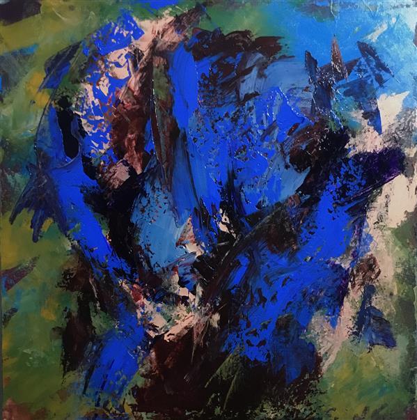 هنر نقاشی و گرافیک محفل نقاشی و گرافیک بهاره خلیقی آبستره انتزاعي اكرليك روي بوم  ١٣٩٩ بهاره خليقي