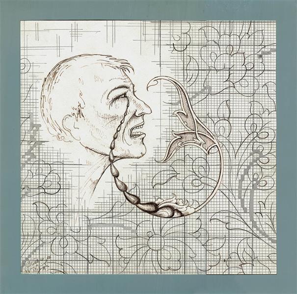 هنر نقاشی و گرافیک محفل نقاشی و گرافیک علی جاپلقیان طراحی مفهومی - مداد ،راپید و گواش -1377 ،رنج و نقش .اثر علی جاپَلَقیان