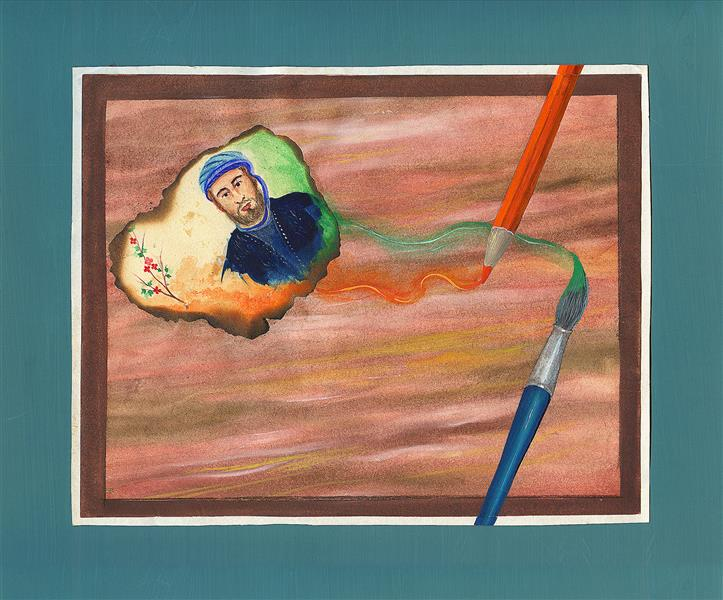 هنر نقاشی و گرافیک محفل نقاشی و گرافیک علی جاپلقیان نقاشی مفهومی ،کلاژ آبرنگ ،1367و1379 ،هنر و زمان .اثر علی جاپَلَقیان
