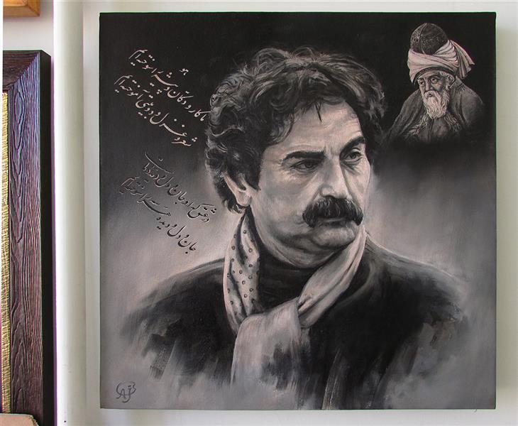 هنر نقاشی و گرافیک محفل نقاشی و گرافیک علی جاپلقیان موضوع ادبیات و هنر - رنگروغن روی بوم # این کار قاب شده است - 1396 - اثر علی جاپلقیان