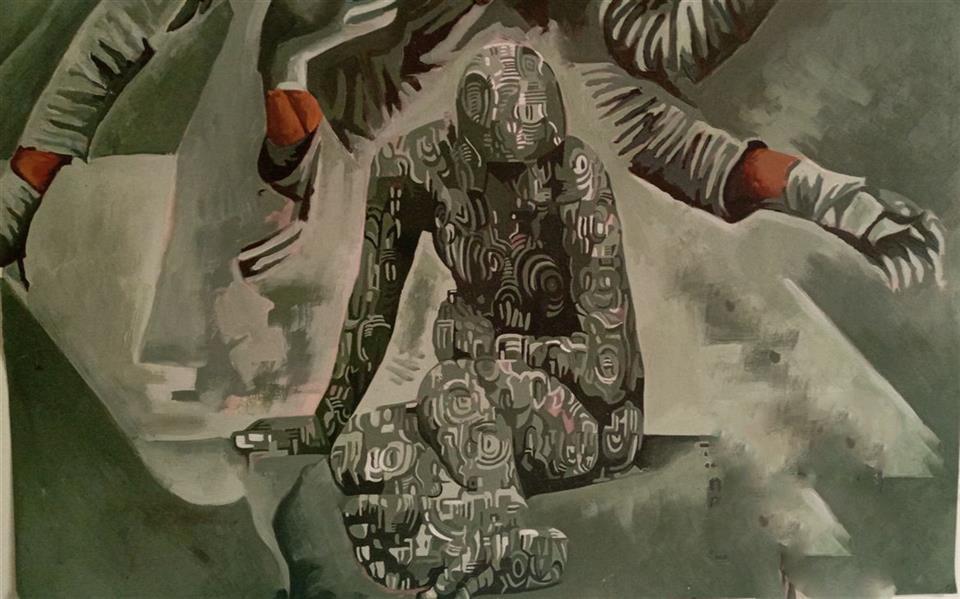هنر نقاشی و گرافیک محفل نقاشی و گرافیک مجید قراگوزلو نقاشی رنگ روغن.سال1397.نام اثر خیال نقاش.مجید قراگوزلو