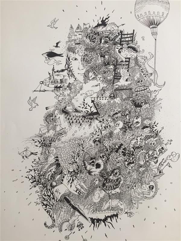 هنر نقاشی و گرافیک محفل نقاشی و گرافیک Amiri_New_artist نام اثر:خیال  سال:2021 تکنیک:راپید هنرمندamiri_New_artist