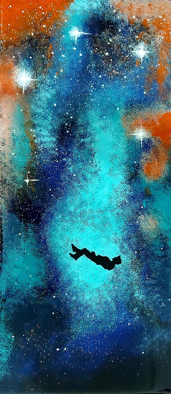 هنر نقاشی و گرافیک محفل نقاشی و گرافیک ف قاف #تابلو #رزینی و #اکریلیک