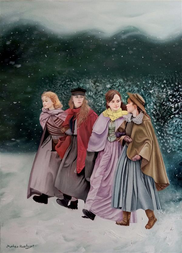هنر نقاشی و گرافیک محفل نقاشی و گرافیک مهسا هوشیار عنوان اثر: زنان کوچک متریال، اندازه: رنگ روغن روی بوم، 50 * 70 CM #oilonconvas  #رنگ-روغن #بوم #سال1399 #زنان-کوچک #littlewomen #زمستان #winter #مهساهوشیار #mahsahoushyar