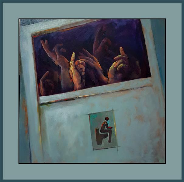 هنر نقاشی و گرافیک محفل نقاشی و گرافیک مارال معین تقوی #نقاشی ، #رنگ_روغن روی #بوم ، 1399، پرسش، مارال معین تقوی #فروخته_شد