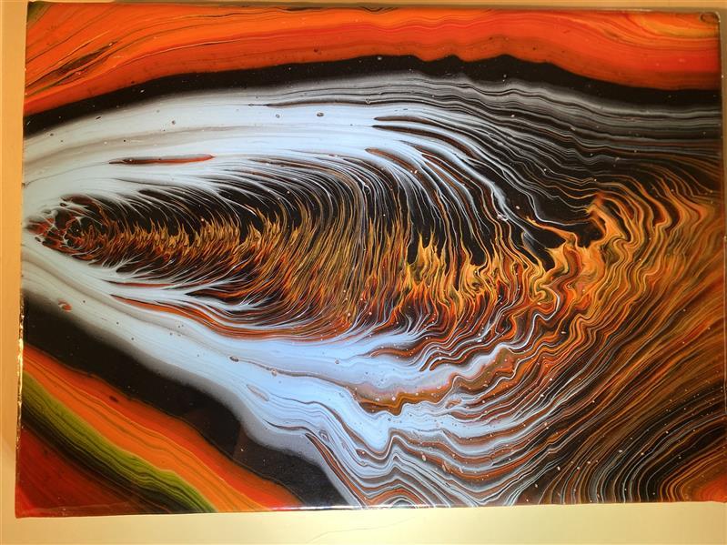 هنر نقاشی و گرافیک محفل نقاشی و گرافیک دانیال راد تكنيك ابستره ، نقاشى مدرن با رنگ اكريليك و رزين شده ، اثرى از مصطفى رفعت #جادوى_رنگها #دكوراسيون_مدرن #ابستره #دكوراتيو