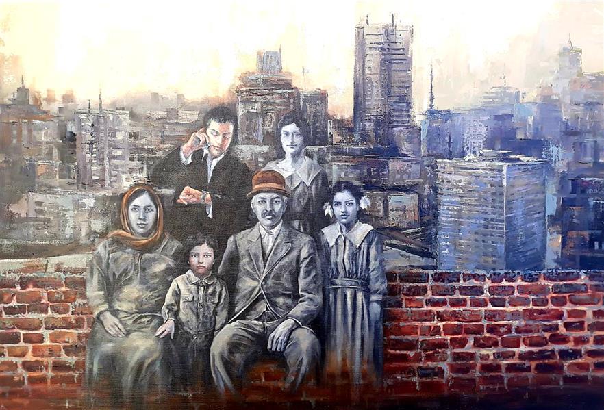 هنر نقاشی و گرافیک محفل نقاشی و گرافیک مینو باغبانی رنگ و روغن روی بوم ۱۳۹۹ گمشده در تاریخ مینو باغبانی