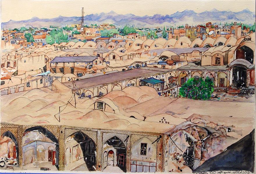 هنر نقاشی و گرافیک محفل نقاشی و گرافیک MOHSEN HALIMI آبرنگ #سال1376#کاشان #خالق اثر محسن حلیمی