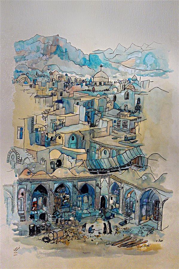 هنر نقاشی و گرافیک محفل نقاشی و گرافیک MOHSEN HALIMI آبرنگ#1376#کپی آلن بایاش#محسن حلیمی