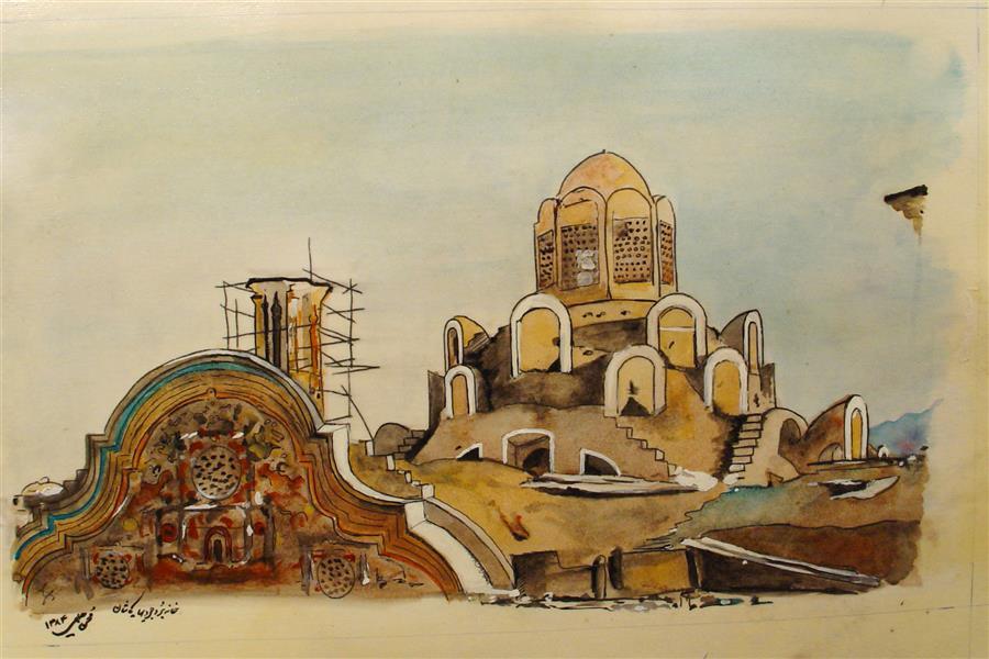 هنر نقاشی و گرافیک محفل نقاشی و گرافیک MOHSEN HALIMI خانه بروجردی#کاشان#1384#محسن حلیمی