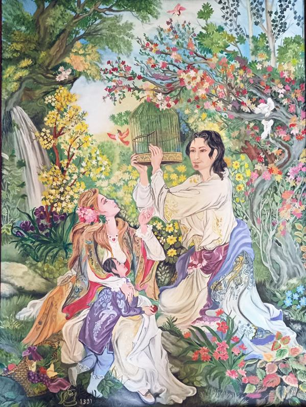 هنر نقاشی و گرافیک محفل نقاشی و گرافیک لیلا  #لیلا_رضایی #رنگ_روغن #نکویی_اهل_کرم #بهشت #آزادی #نقاشی #۱۳۹۱