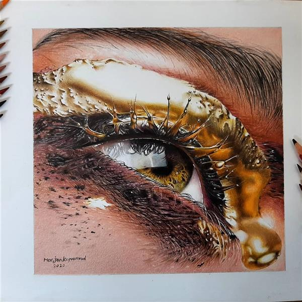 هنر نقاشی و گرافیک محفل نقاشی و گرافیک Marjan keyvanrad تکنیک مداد رنگی