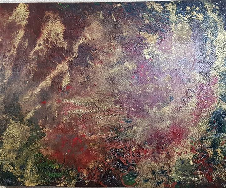 هنر نقاشی و گرافیک محفل نقاشی و گرافیک فاطمه حیاتی   نام اثر: آشوب درون .Acrylic pouring #  acrylic painting # #آبستره  # دکوراسیون #هنر انتزاعی سال 1400 # فاطمه حیاتی