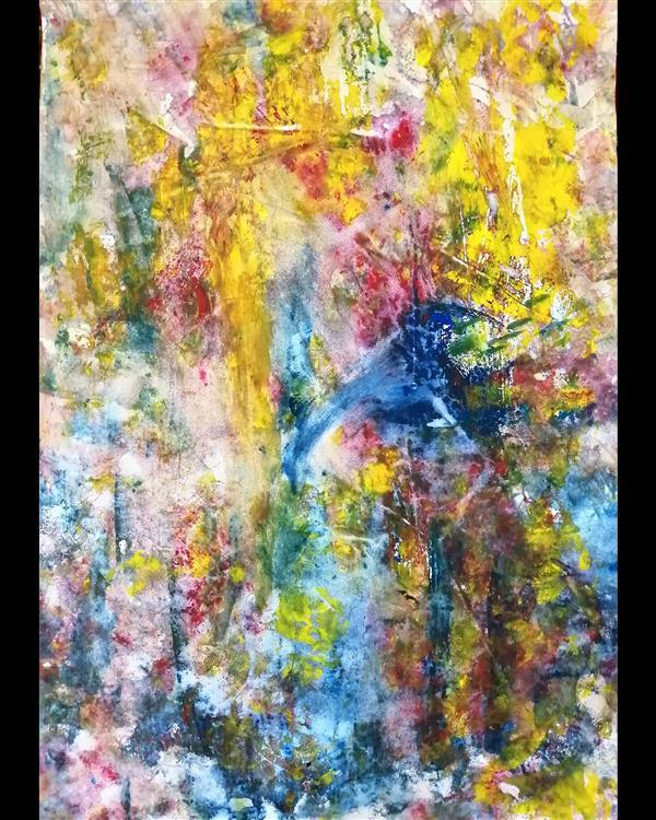 هنر نقاشی و گرافیک محفل نقاشی و گرافیک حسین آقابزرگی نام اثر : خاطرات کودکی تکنیک : آکریلیک روی بوم سال : 1400 سبک : آبستره