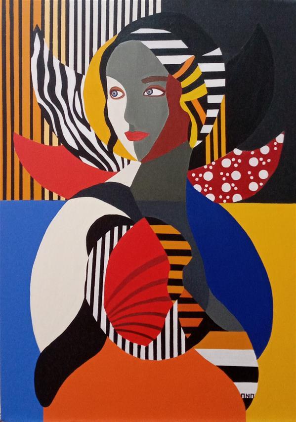هنر نقاشی و گرافیک محفل نقاشی و گرافیک Anahita hosseini آناهیتاحسینی،سال خلق اثر ۱۳۹۹،آکرلیک روی بوم،#نیلوفر_آبی