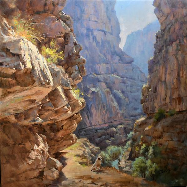 هنر نقاشی و گرافیک محفل نقاشی و گرافیک  حمید پازوکی  شکوه تنگه    طبیعت قوچان  ۱۳۹۹ #رنگ و روغن #اورجینال #بوم #پازوکی