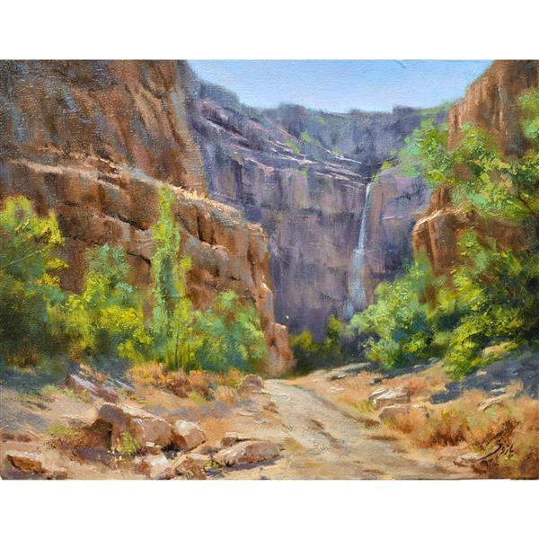 هنر نقاشی و گرافیک محفل نقاشی و گرافیک  حمید پازوکی  طبیعت بجنورد #حمید پازوکی  ۱۴۰۰     #رنگ روغن