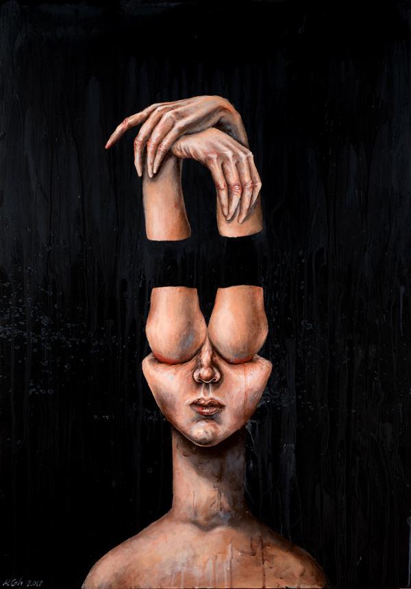 هنر نقاشی و گرافیک محفل نقاشی و گرافیک مریم قربانی #اکرلیک روی بوم دیپ