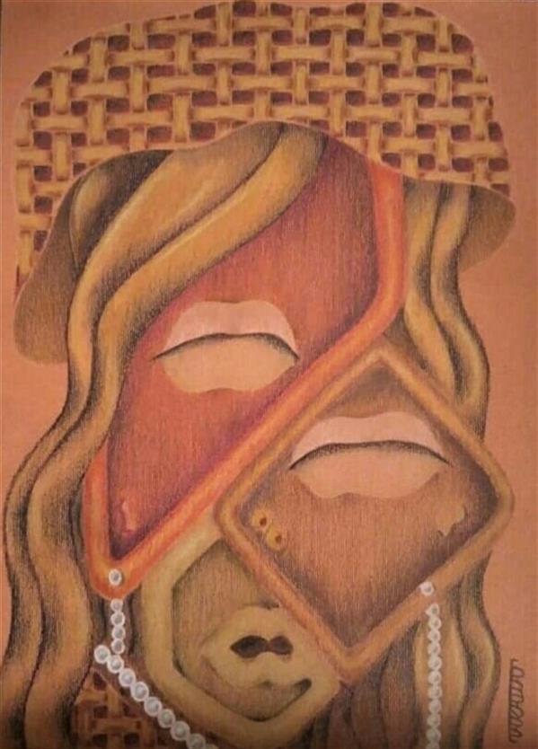 هنر نقاشی و گرافیک محفل نقاشی و گرافیک طراوت حیرتی ابهام خاکستری رنگ بود و واقع گرایی طعم یک فنجان پر قهوه داغ تلخ می داد..._ مدادرنگی روی مقوا #پلی کروم سال 1400_اثر اورجینال_امضا دارد_قاب دارد طراوت حیرتی #کوبیسم #مدرن #دختر #ابهام #مدادرنگی #تکنیک_نقاشی #اورجینال #نقاشی_مدرن