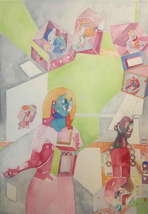 هنر نقاشی و گرافیک محفل نقاشی و گرافیک zahra-m #آبرنگ#مقوا#هنر# #watercolor #art#artist A4