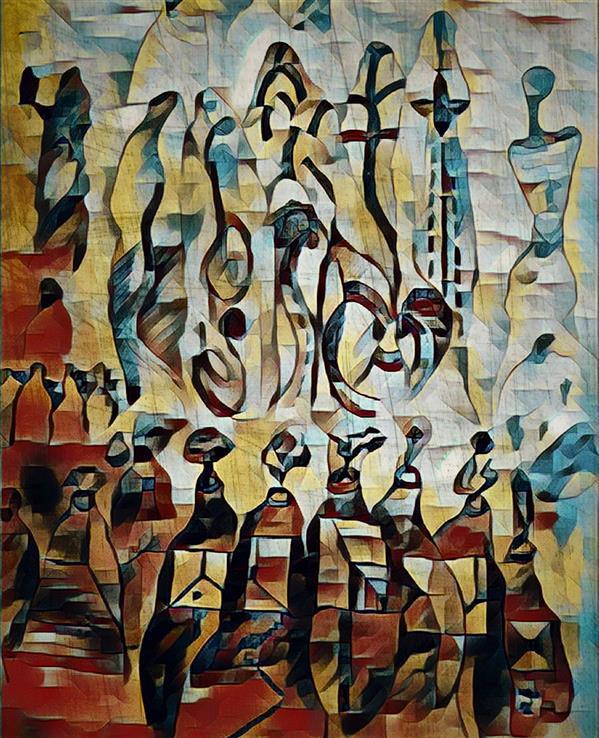 هنر نقاشی و گرافیک محفل نقاشی و گرافیک Shahramsharareh نقاشی#دیجیتال آرت#از مجموعه:سایه های متنتن،اثر شماره:۱۰۹ #شهرام شراره#۱۳۹۹