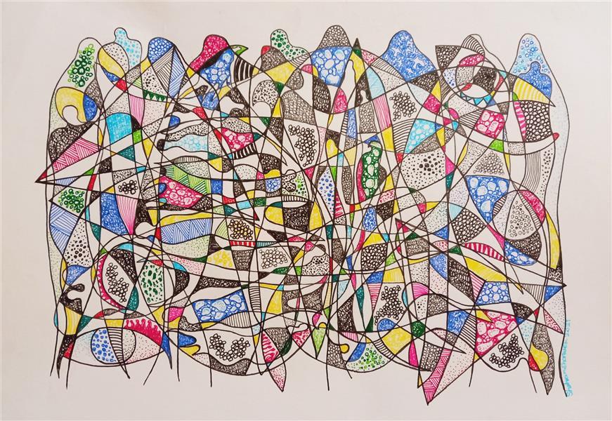 هنر نقاشی و گرافیک محفل نقاشی و گرافیک Shahramsharareh نقاشی#راپید،مدادرنگی روی مقوا،از مجموعه:سایه های متنتن،شماره۱۰۷،شهرام شراره،۱۴۰۰