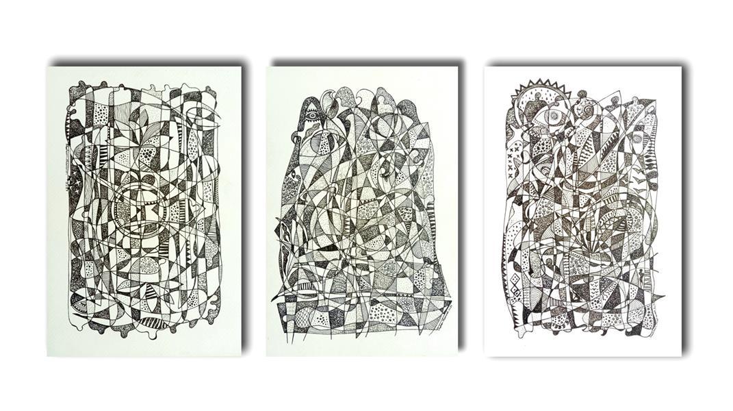 هنر نقاشی و گرافیک محفل نقاشی و گرافیک Shahramsharareh نقاشی#راپید روی مقوا#۱۳۹۹،از مجموعه :روشنا وتاریک های ابدی/اثر شماره :۲۰۲،شهرام شراره#
