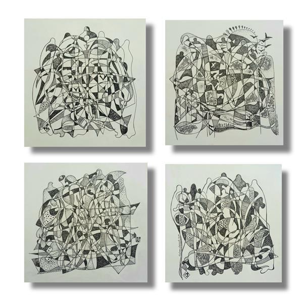 هنر نقاشی و گرافیک محفل نقاشی و گرافیک Shahramsharareh  نقاشی ،راپید روی مقوا ،۱۳۹۹ ،سایه سوره های مشجر،شهرام شراره