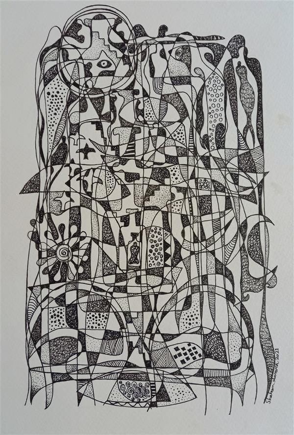 هنر نقاشی و گرافیک محفل نقاشی و گرافیک Shahramsharareh نقاشی #راپید روی مقوا#۱۳۹۹#از مجموعه :روشنا و تاریک های ابدی/کد ۲۰۱،شهرام شراره