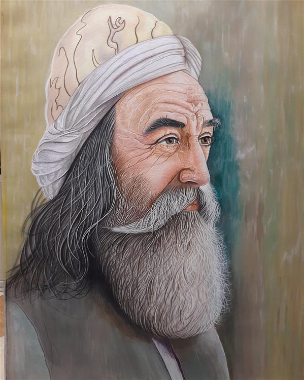 هنر نقاشی و گرافیک محفل نقاشی و گرافیک جمشید میرمحسنی بروی کاغذ اشتنباخ  ترکیبی از گواش و مداد رنگی