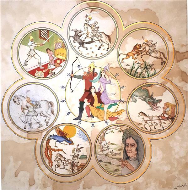 هنر نقاشی و گرافیک محفل نقاشی و گرافیک شکوفه حسن زارعی گواش، مقوا ماکت هلندی، ۲۰۲۰، هفت خان اسفندیار، شکوفه حسن زارعی