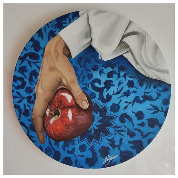 هنر نقاشی و گرافیک محفل نقاشی و گرافیک فاطمه جداری خالصانه-شهریور 1400 اثر فاطمه جداری، رنگ روغن روی بوم، سبک رئالیسم