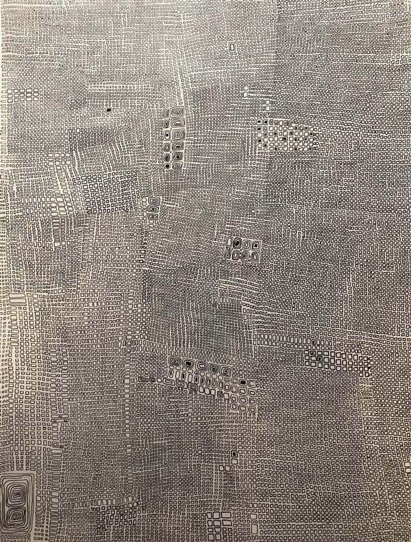 هنر نقاشی و گرافیک محفل نقاشی و گرافیک ساناز سیداصفهانی  نقاشی آبستره ، تکنیک کار با میکرون انجام شده است .  #نقاشی #هنر_مدرن #آبستره #طراحی