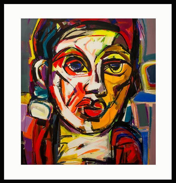 هنر نقاشی و گرافیک محفل نقاشی و گرافیک حسین نوروزی  Elyad  #آکریلیک  #سال ۱۴۰۰ #ش۶ از مجموعه زن  و رنگ