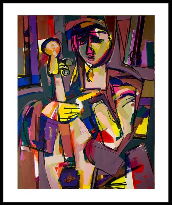 هنر نقاشی و گرافیک محفل نقاشی و گرافیک حسین نوروزی  Elyad  #اکریلیک  #سال ۱۴۰۰ #ش۱ از مجموعه سیکل معیوب