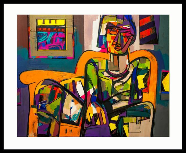 هنر نقاشی و گرافیک محفل نقاشی و گرافیک حسین نوروزی  Elyad  #متریال اکریلیک و رنگ روغن  #سال ۱۴۰۰ #ش۳ از مجموعه سیکل معیوب