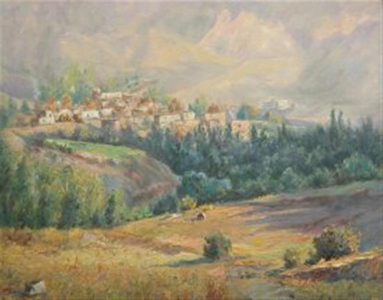 هنر نقاشی و گرافیک محفل نقاشی و گرافیک عباس دارایی طبیعت  رنگ روغنی روی بوم